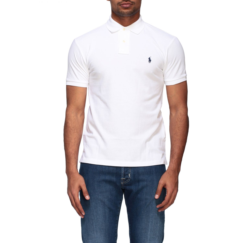 Polo Polo Ralph Lauren a maniche corte bianco 1