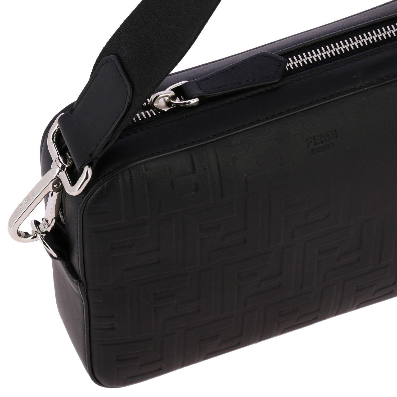 Bolso Fendi de piel con monograma FF negro 4