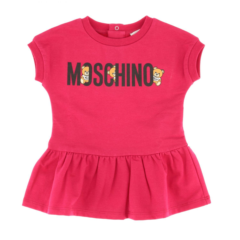 Moschino Baby 泰迪熊印花连衣裙 紫红色 1