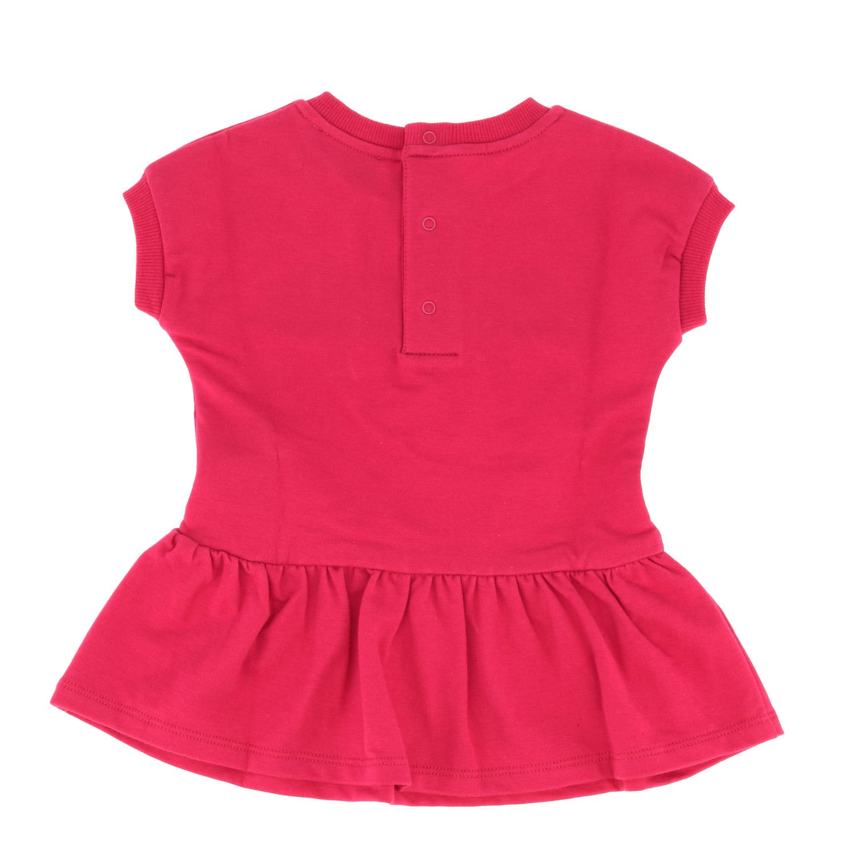 Moschino Baby 泰迪熊印花连衣裙 紫红色 2