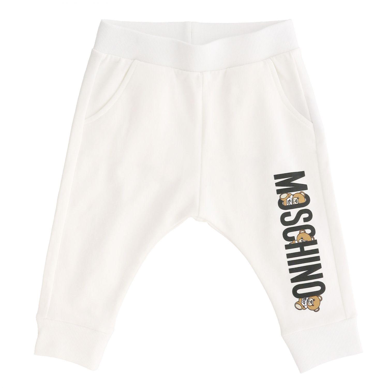 Pantalon de jogging Moschino Baby avec teddy blanc 1