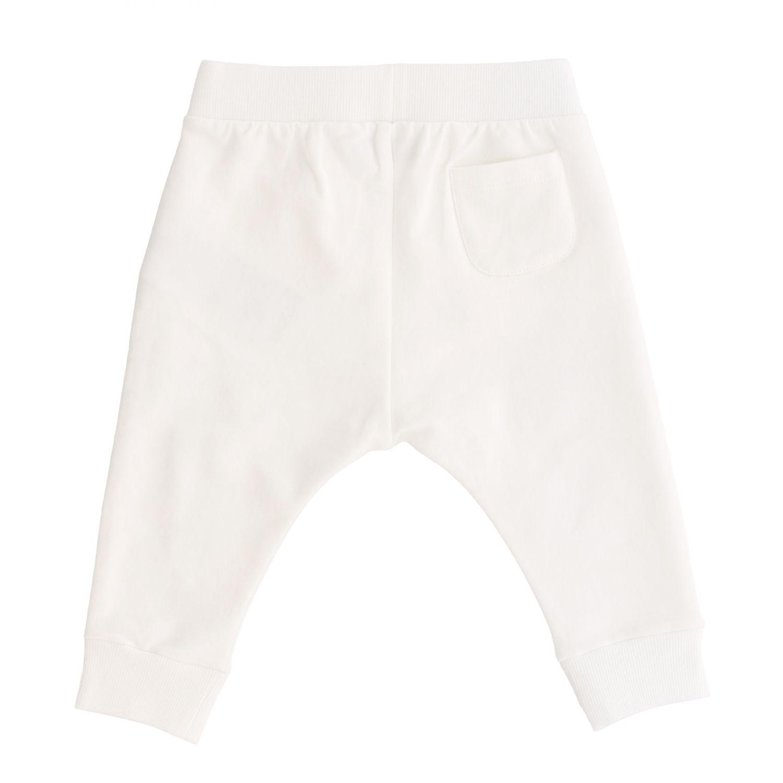 Pantalon de jogging Moschino Baby avec teddy blanc 2