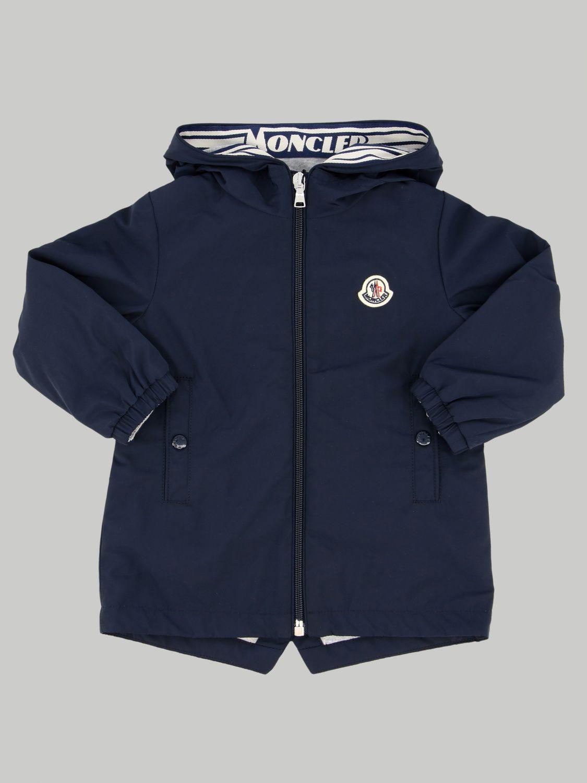 Moncler logo连帽外套 蓝色 1