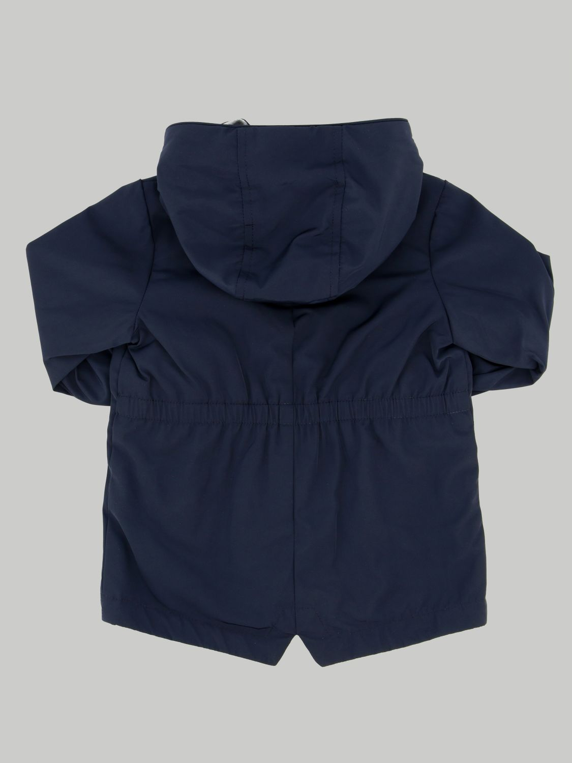Moncler jacket with hood and logo blue 2