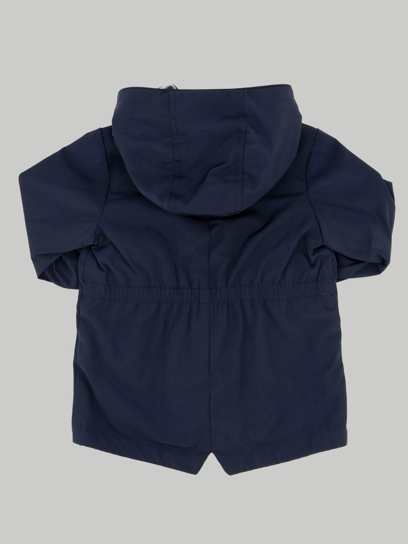 Coat Moncler: Moncler jacket with hood and logo blue 2