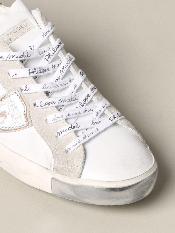 Zapatillas hombre Philippe Model blanco 4