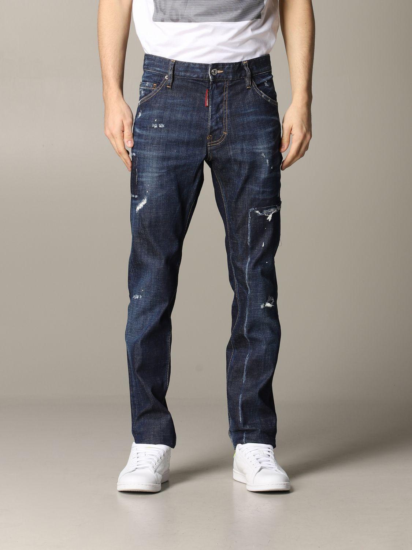 Jeans Dsquared2 in denim con rotture blue 1