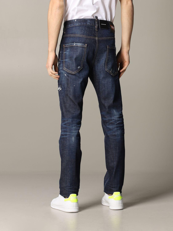 Jeans Dsquared2 in denim con rotture blue 3