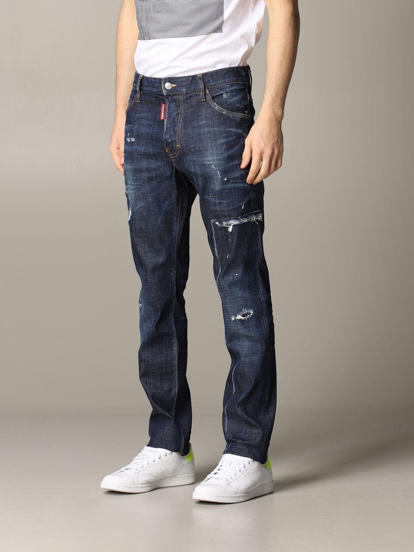 Jeans Dsquared2 in denim con rotture blue 4