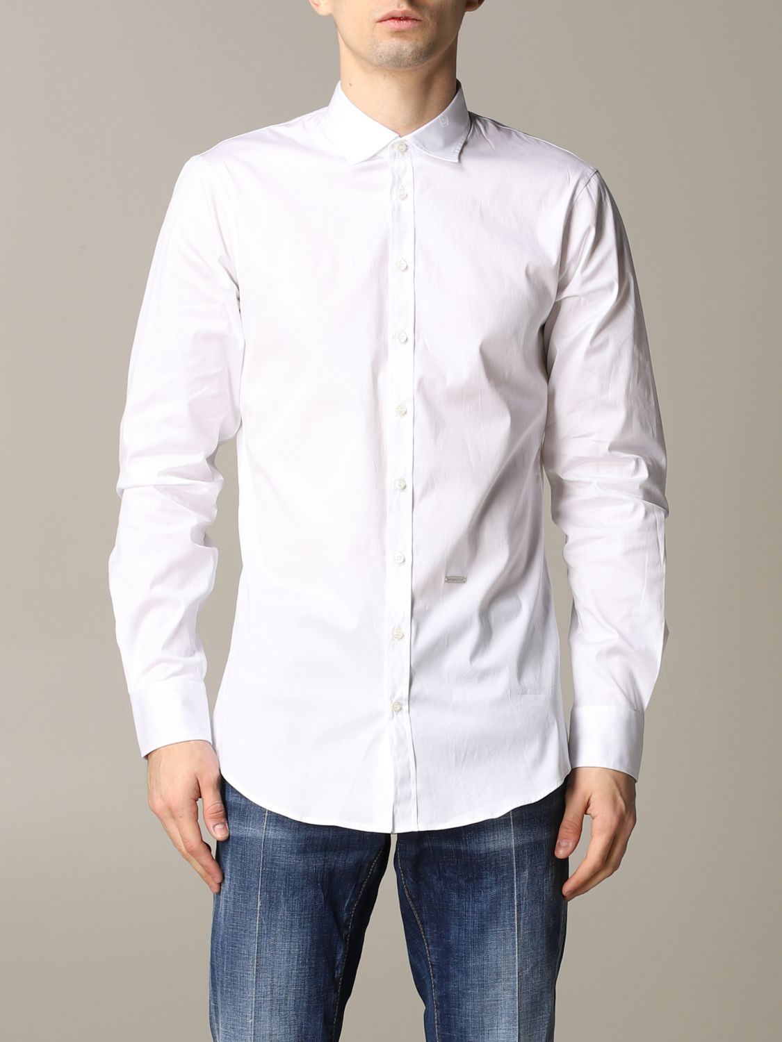 Shirt Dsquared2: Dsquared2 shirt with logo white 1