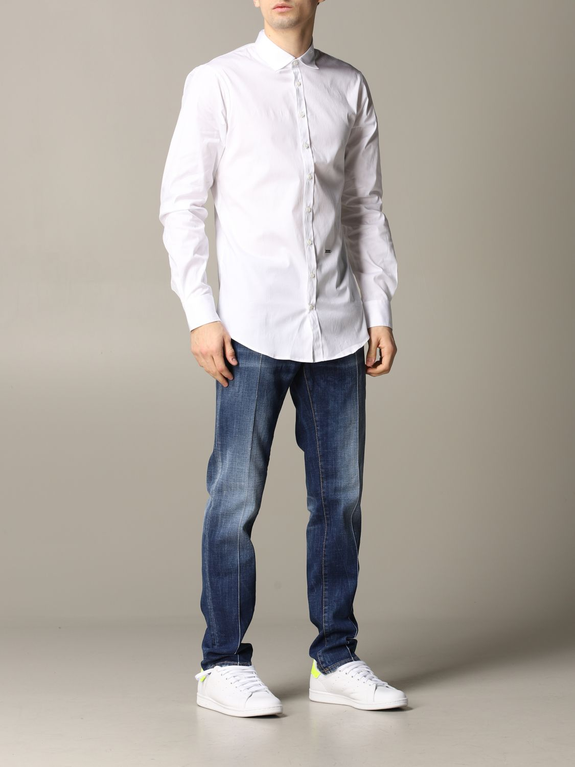Shirt Dsquared2: Dsquared2 shirt with logo white 2