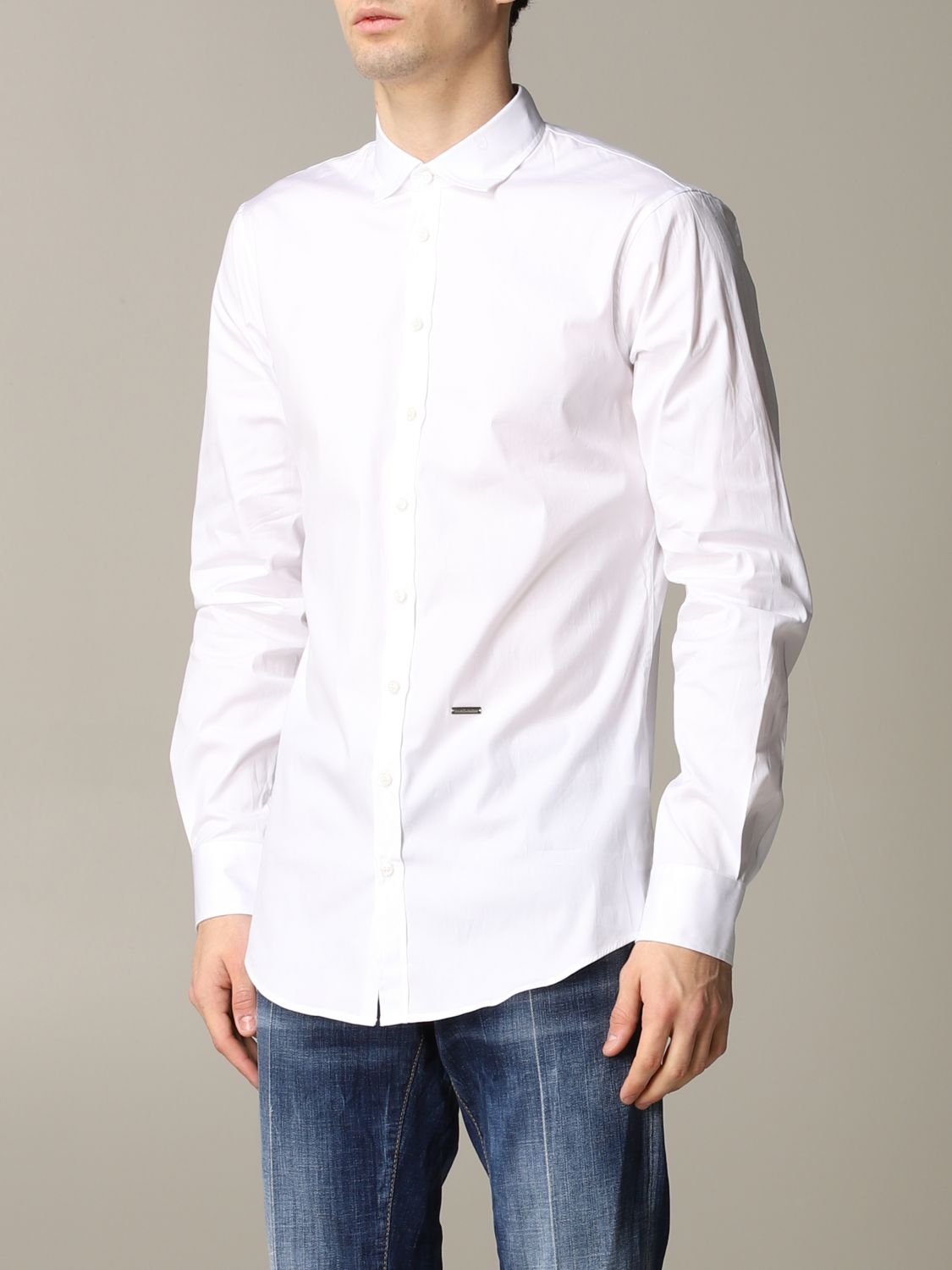 Shirt Dsquared2: Dsquared2 shirt with logo white 4