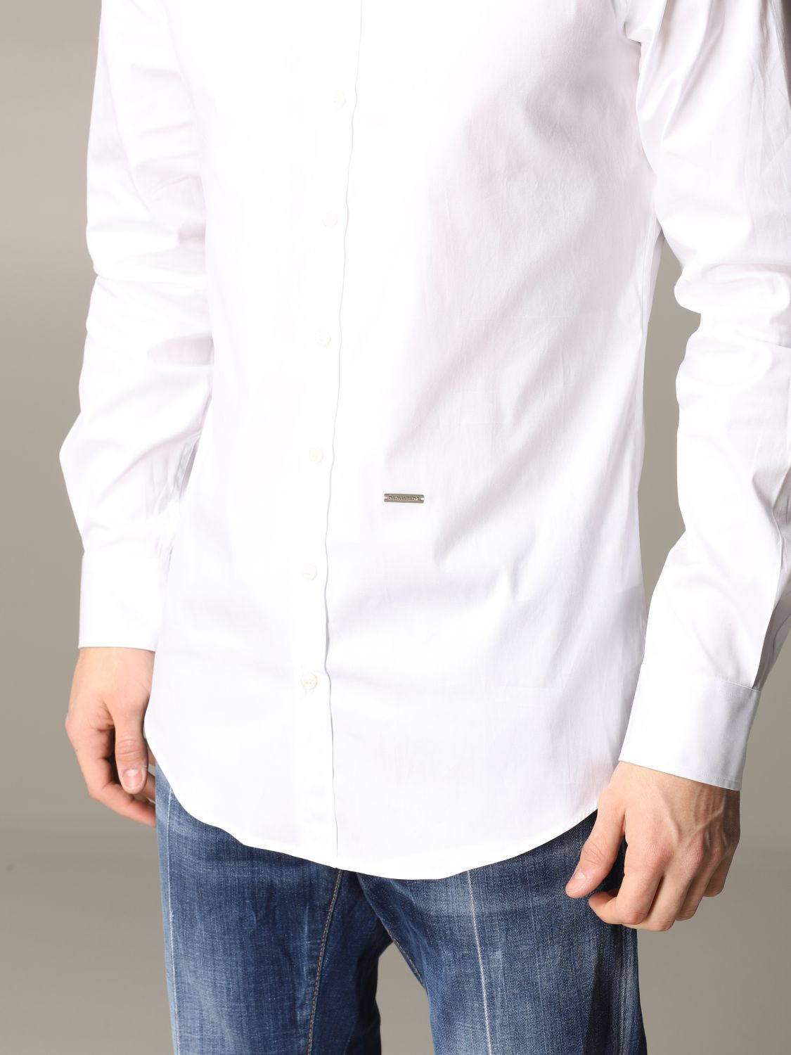 Shirt Dsquared2: Dsquared2 shirt with logo white 5