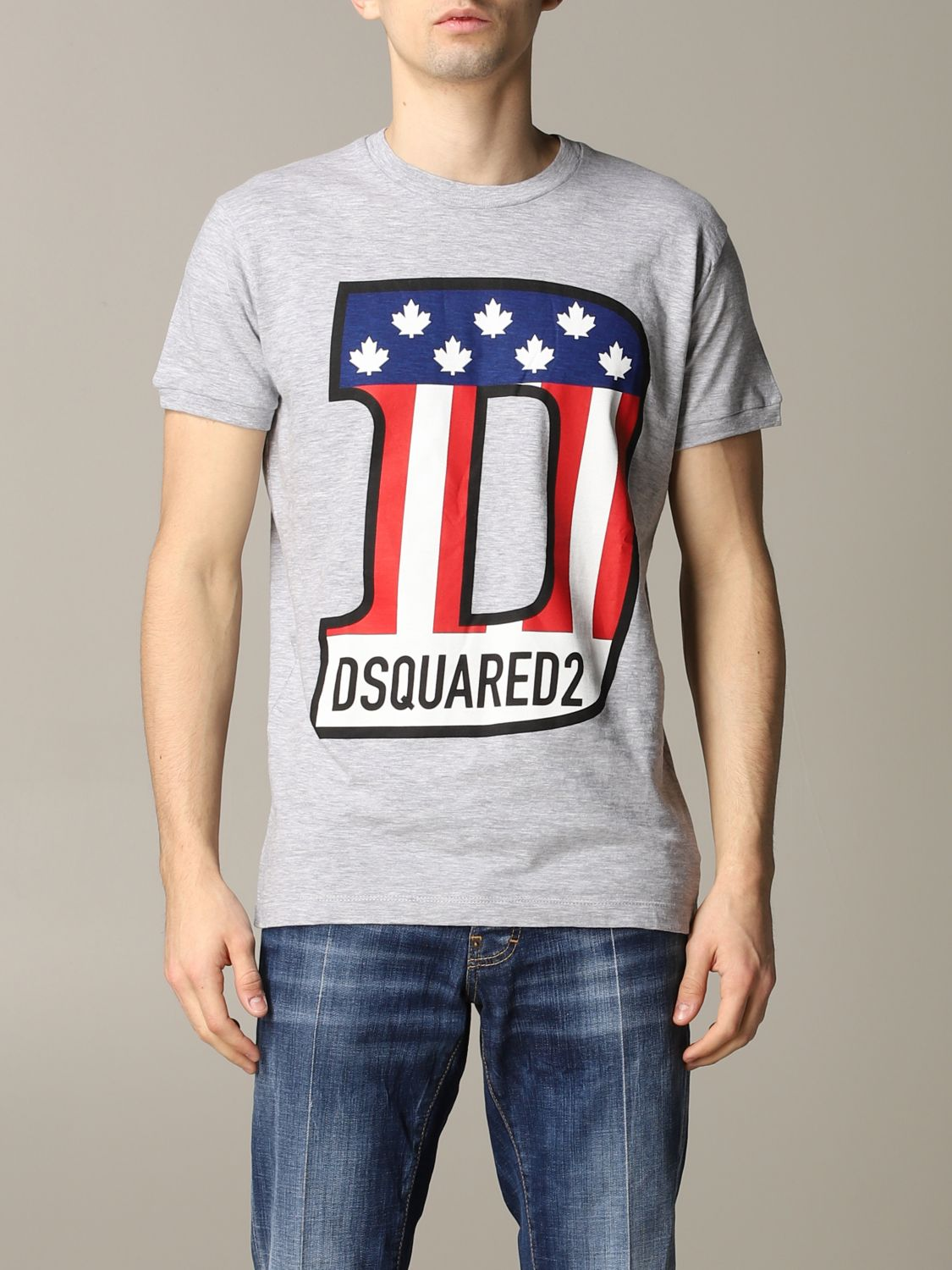 T-shirt Dsquared2: Dsquared2 short-sleeved T-shirt with logo grey 1