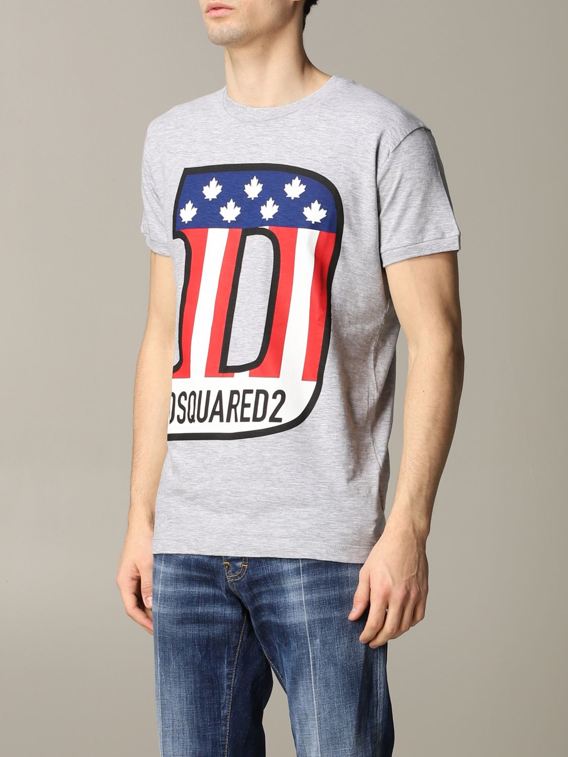 T-shirt Dsquared2: Dsquared2 short-sleeved T-shirt with logo grey 4
