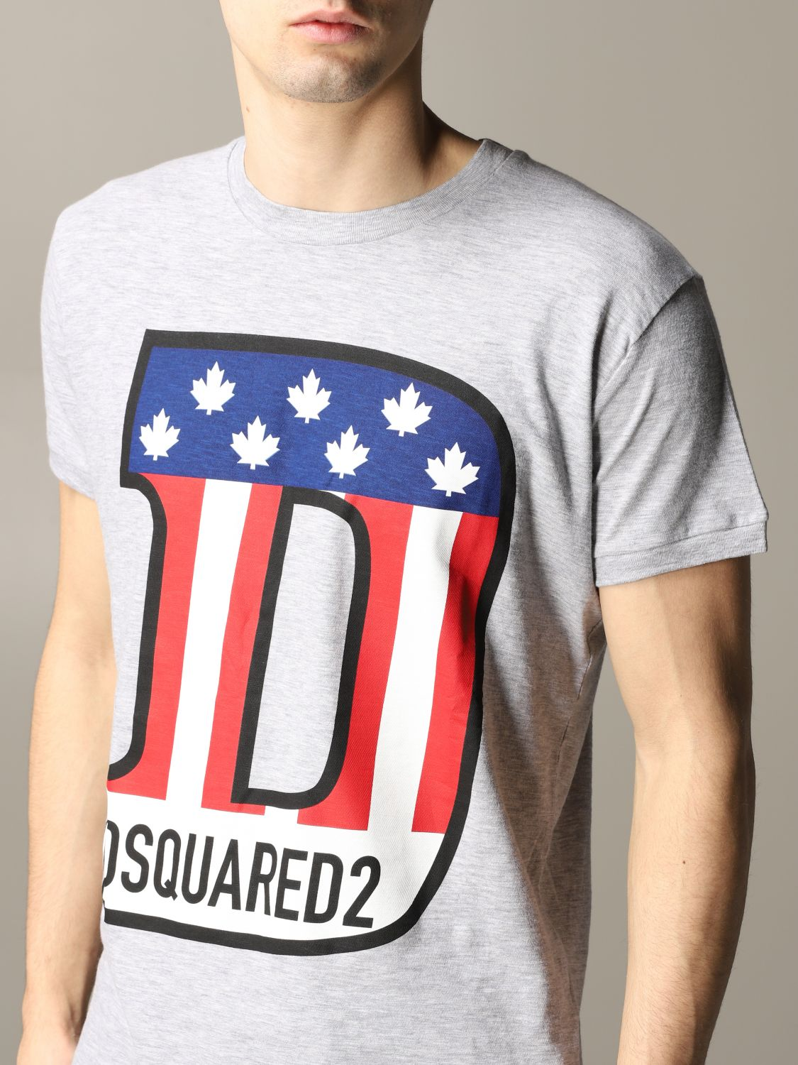 T-shirt Dsquared2: Dsquared2 short-sleeved T-shirt with logo grey 5