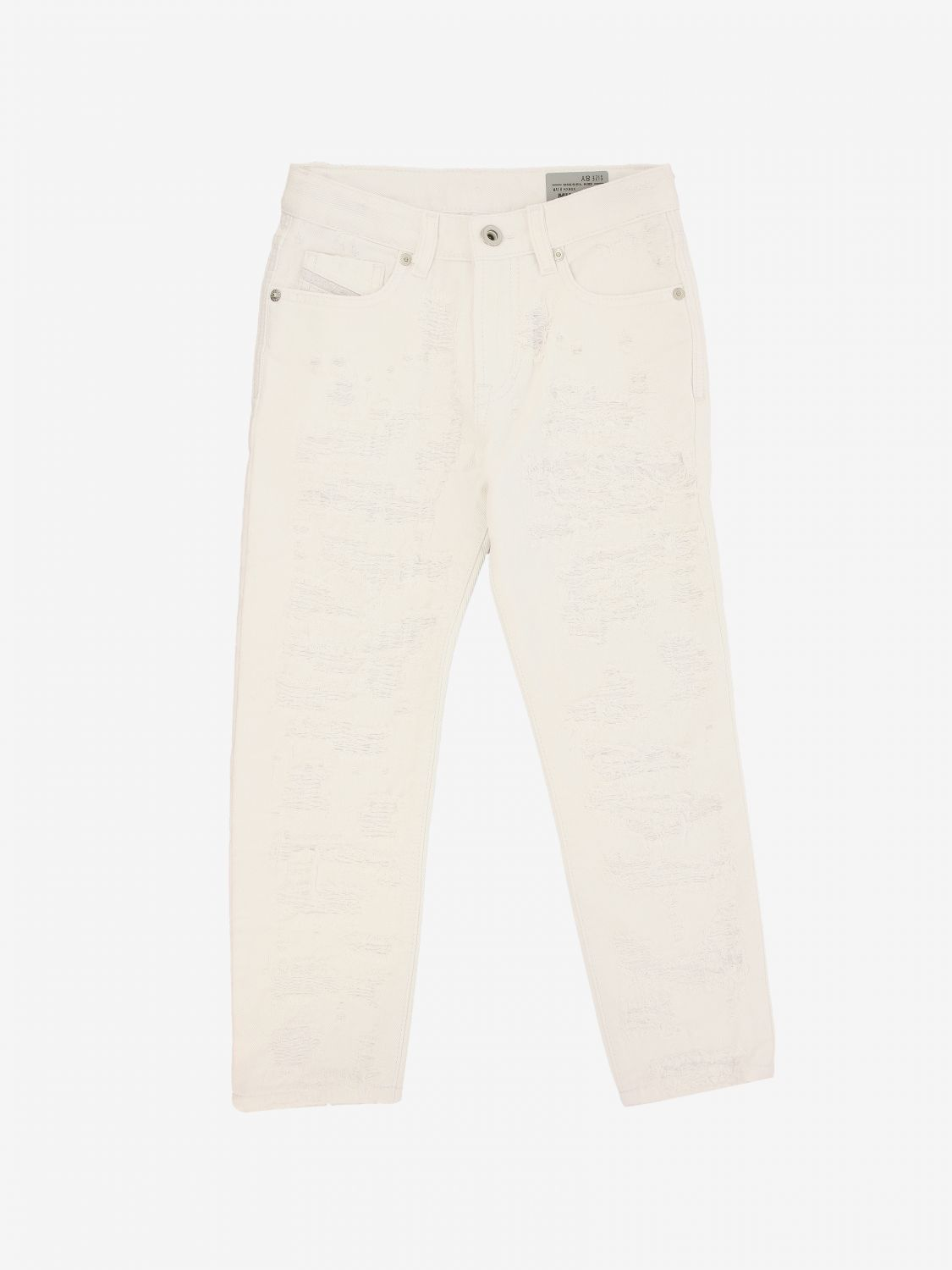 Diesel trousers with 5 pockets white 1