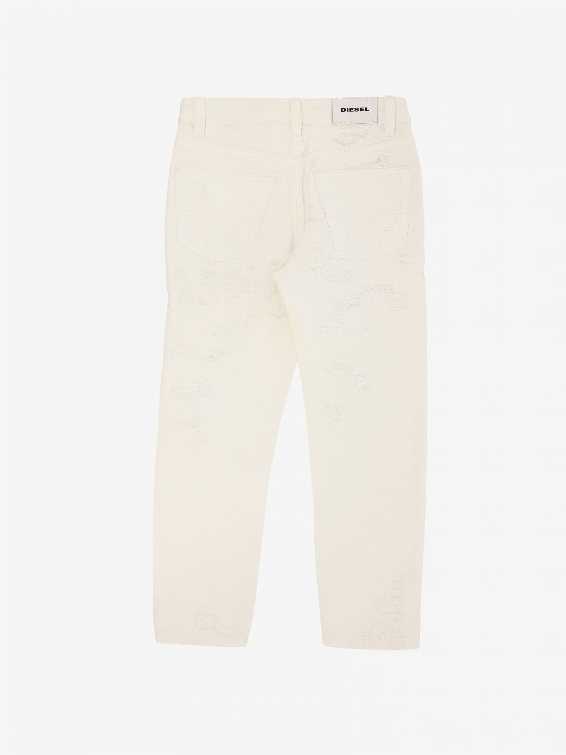 Diesel trousers with 5 pockets white 2