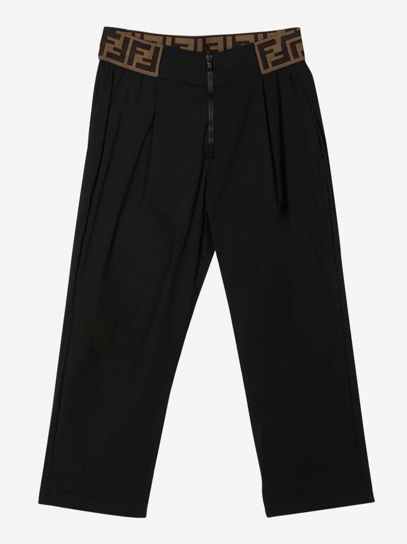 Pantalón Fendi: Pantalón niños Fendi negro 1