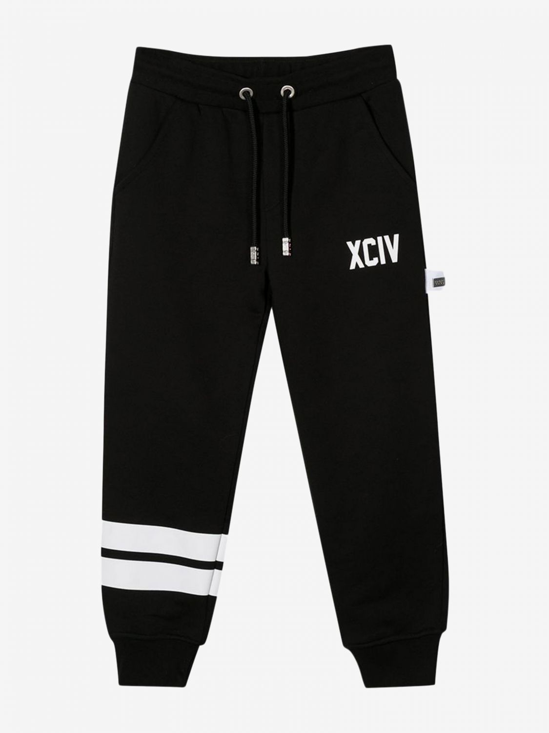 Gcds jogging trousers with logo black 1