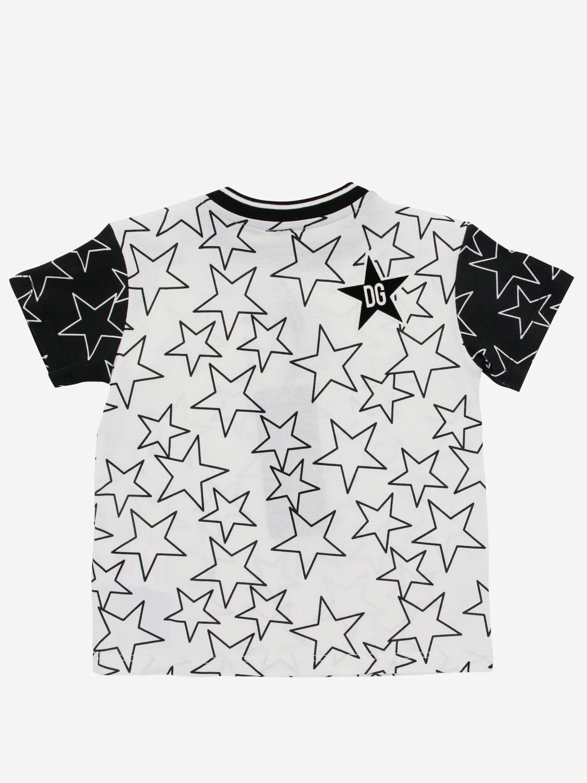 Maglia Dolce & Gabbana: T-shirt Dolce & Gabbana con stampa di stelle all over panna 2