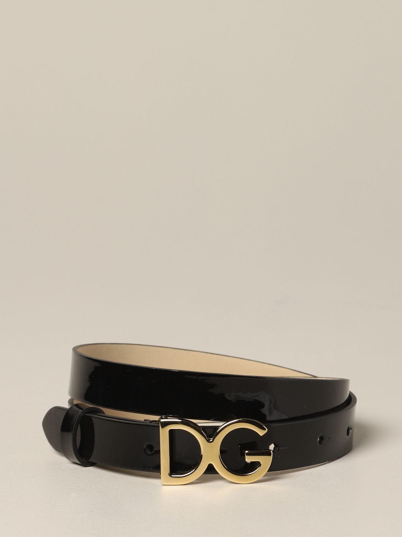 Dolce & Gabbana 漆皮腰带 黑色 1