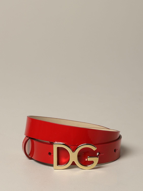 Dolce & Gabbana 漆皮腰带 红色 1