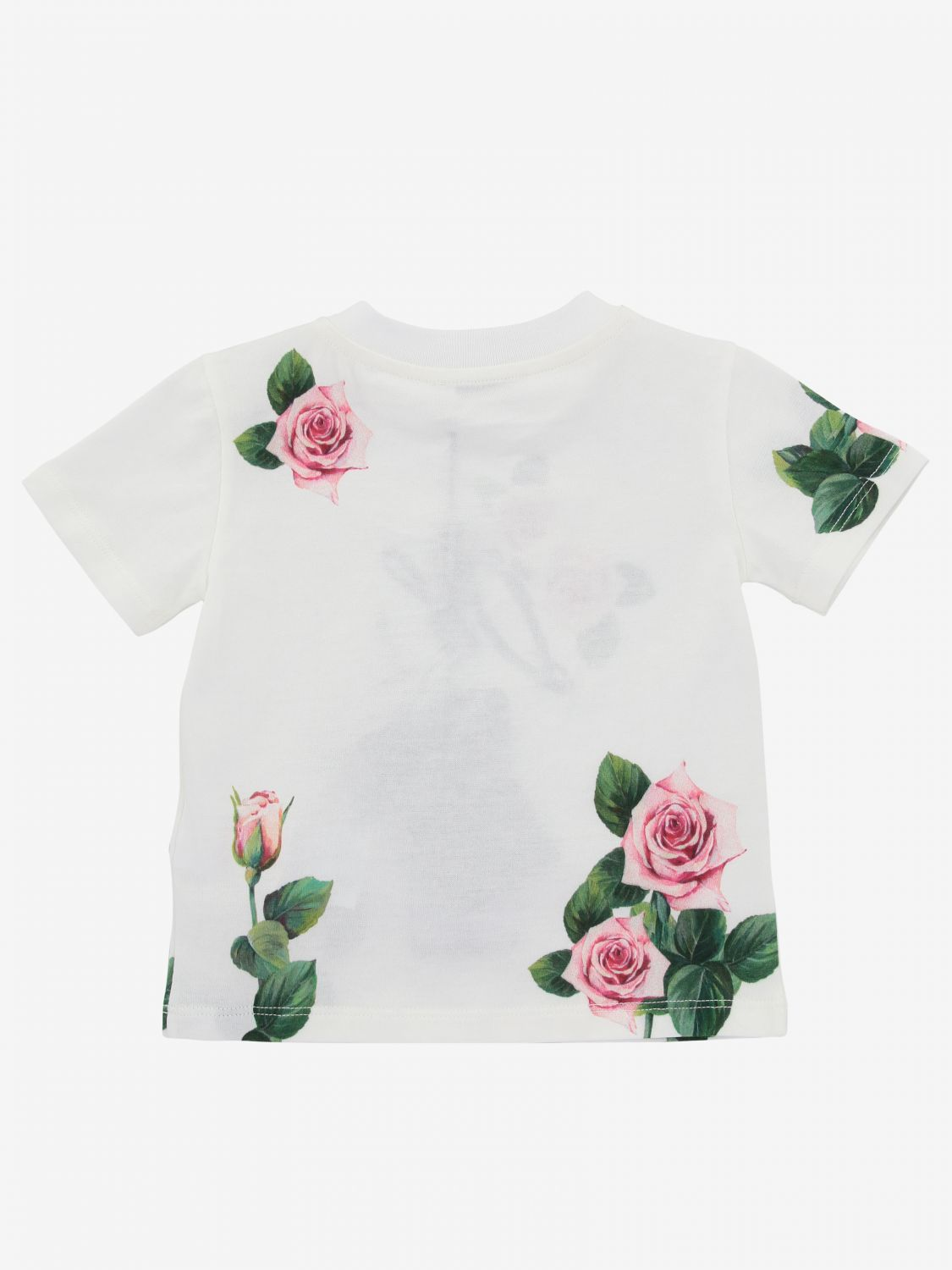 Dolce & Gabbana t-shirt with floral print yellow cream 2