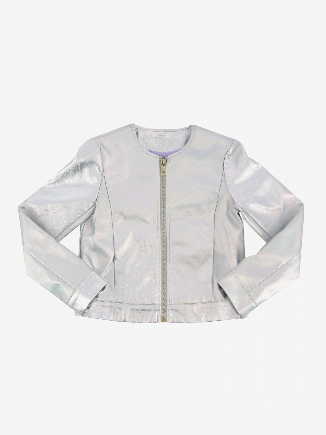 Liu Jo leather jacket with zip silver 1