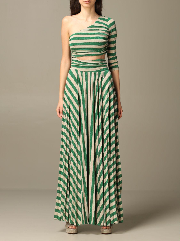 Elisabetta Franchi lang gestreiftes Kleid