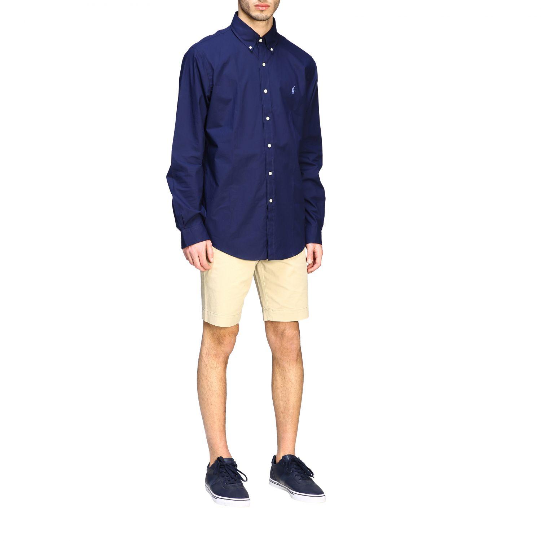 Camicia Polo Ralph Lauren con collo button down blue 2