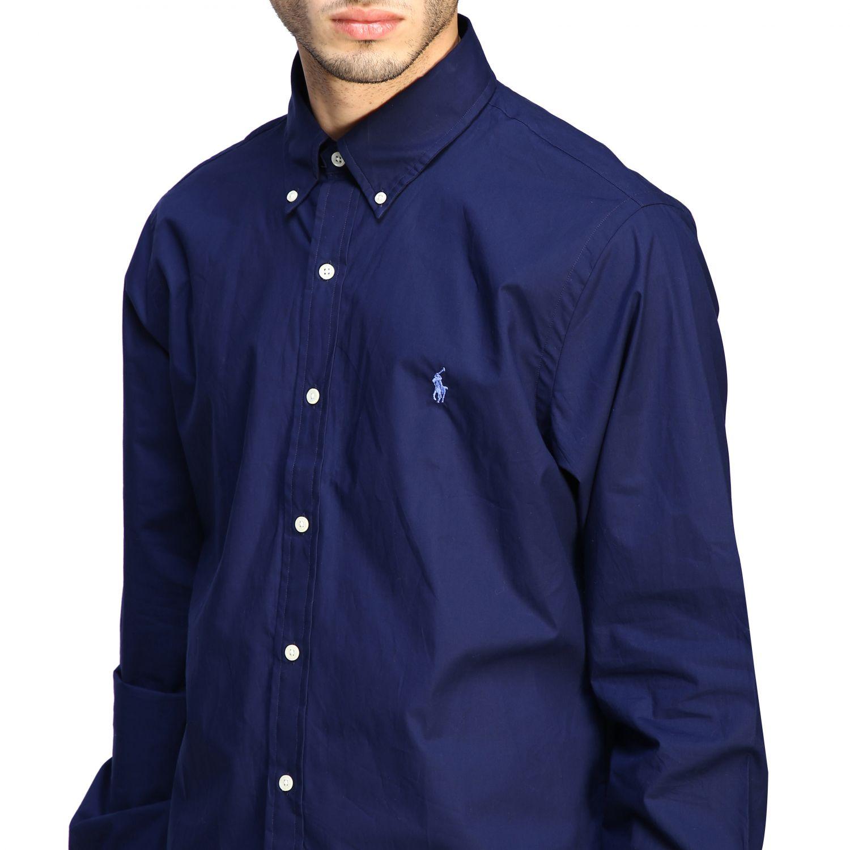 Camicia Polo Ralph Lauren con collo button down blue 5