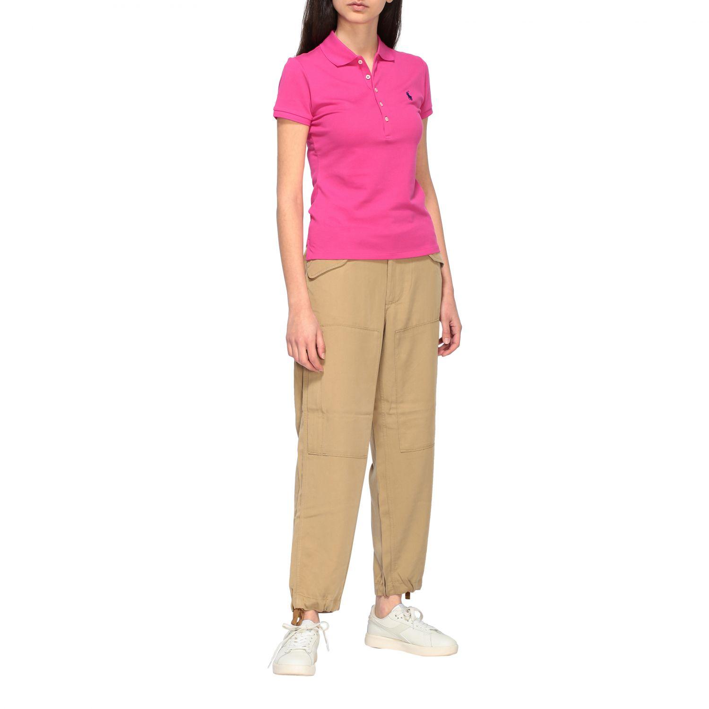 POLO衫 Polo Ralph Lauren: T恤 女士 Polo Ralph Lauren 紫红色 2