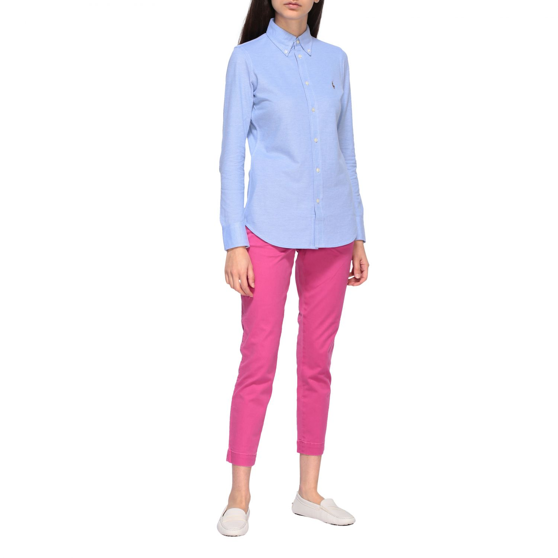 Polo Ralph Lauren 纽扣领衬衫 天蓝色 2