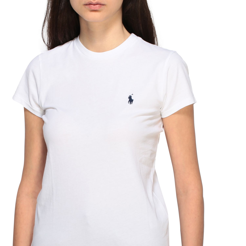 T-shirt Polo Ralph Lauren a girocollo con logo ricamato bianco 5