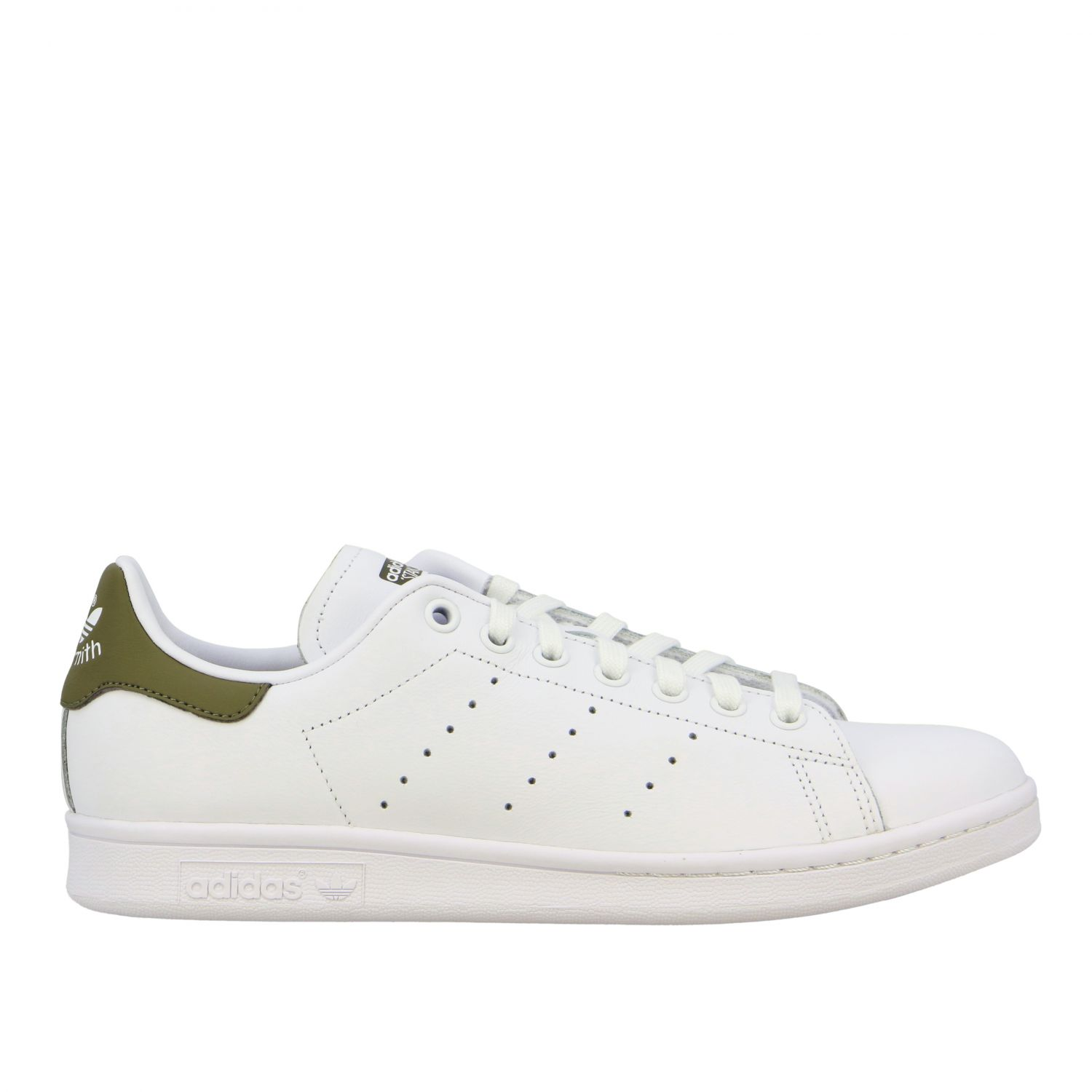Baskets en cuir Adidas Originals Stan Smith blanc 1