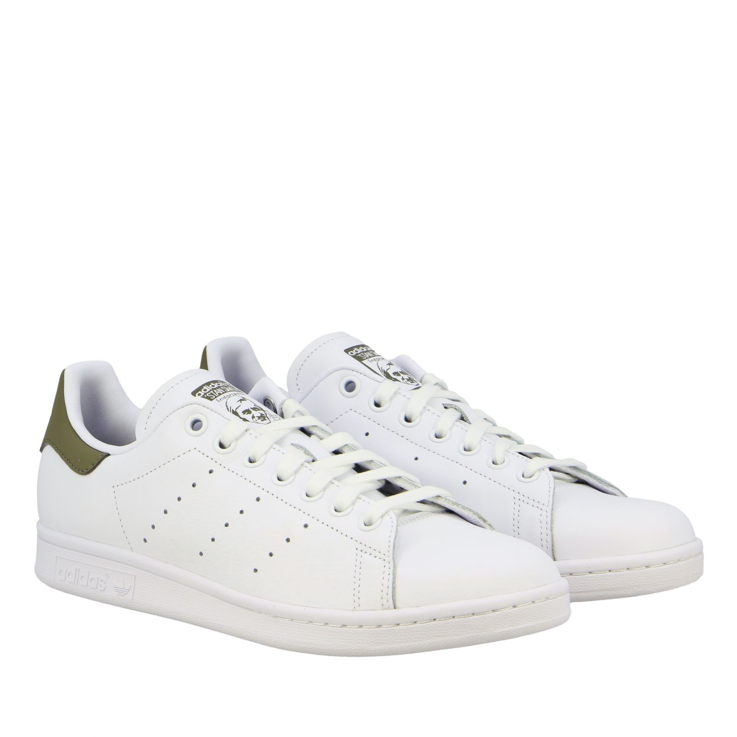 Baskets en cuir Adidas Originals Stan Smith blanc 2