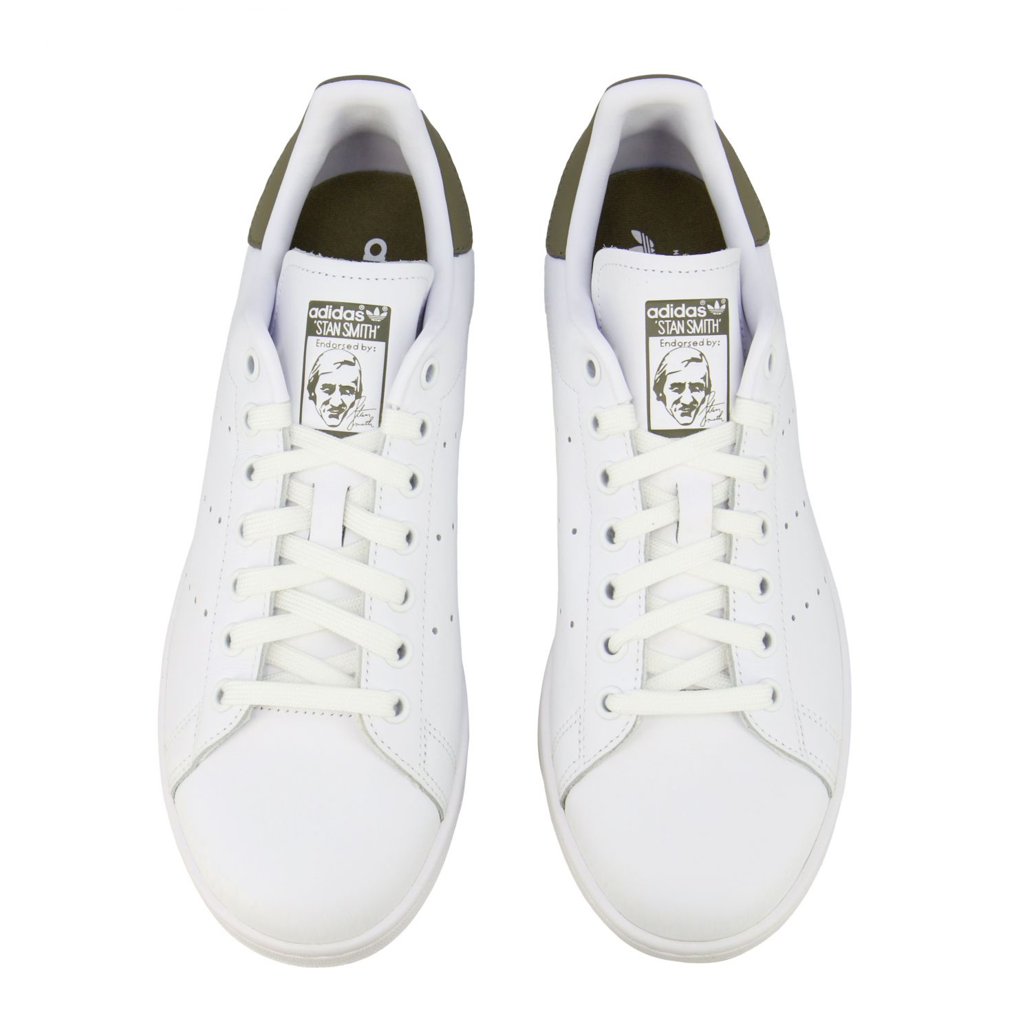 Baskets en cuir Adidas Originals Stan Smith blanc 3