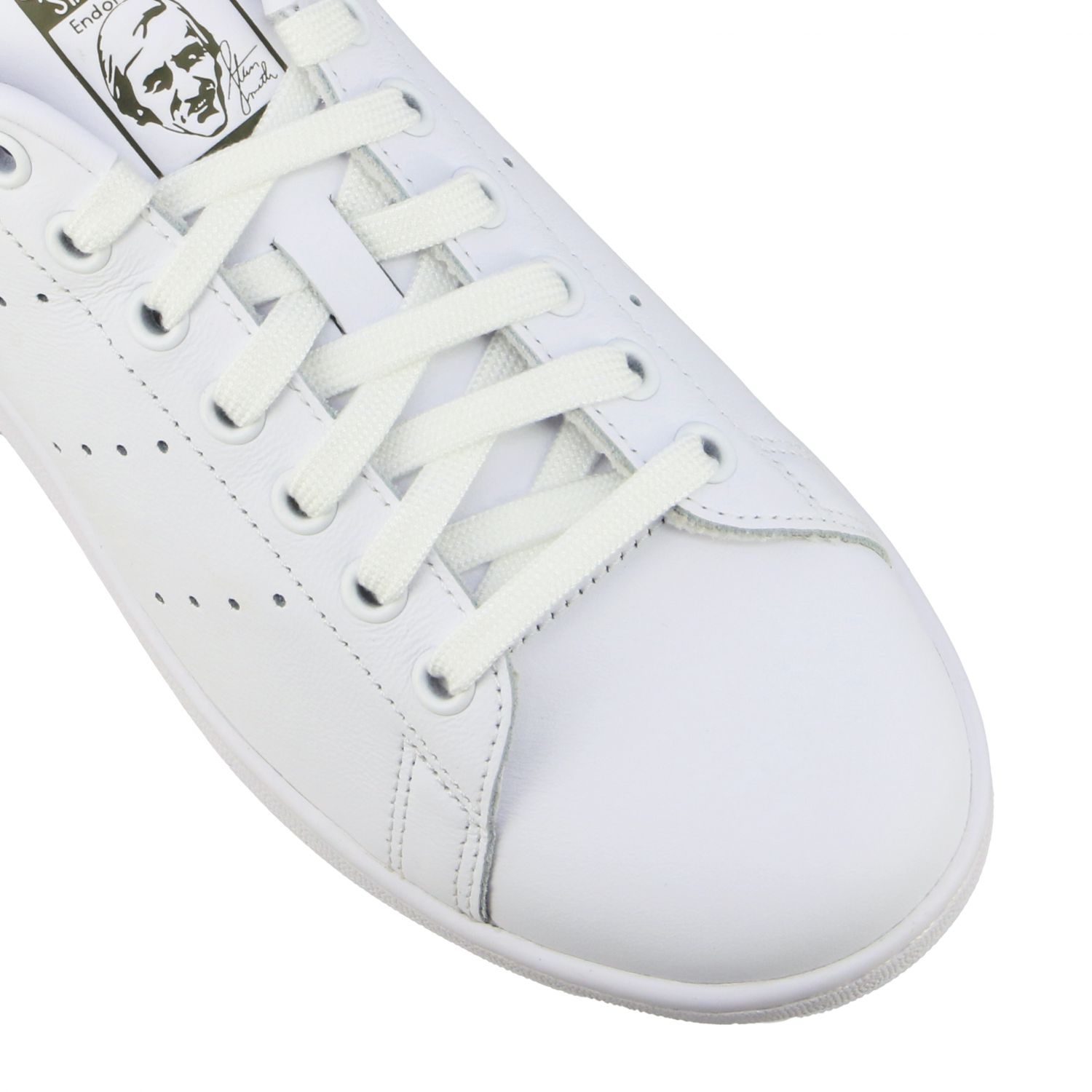 Baskets en cuir Adidas Originals Stan Smith blanc 4