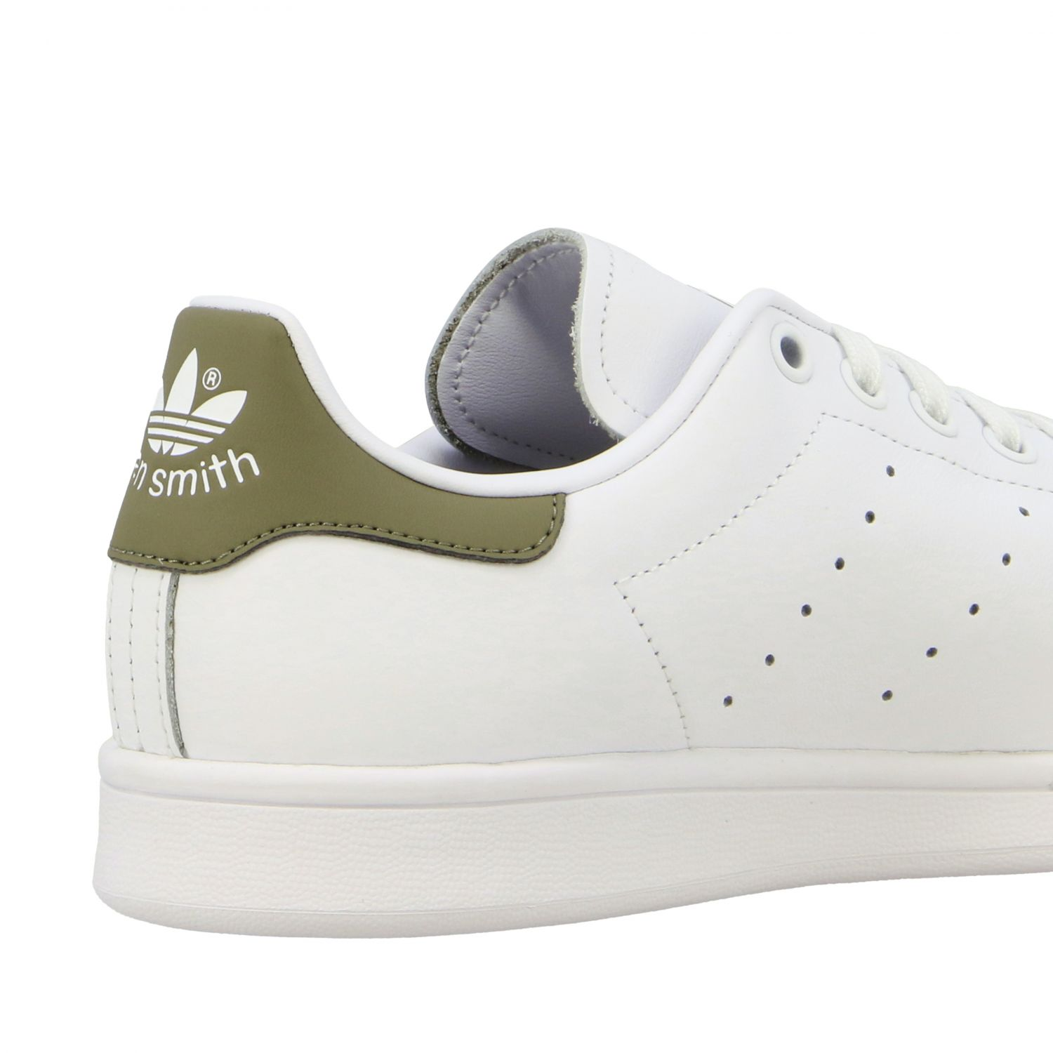 Baskets en cuir Adidas Originals Stan Smith blanc 5