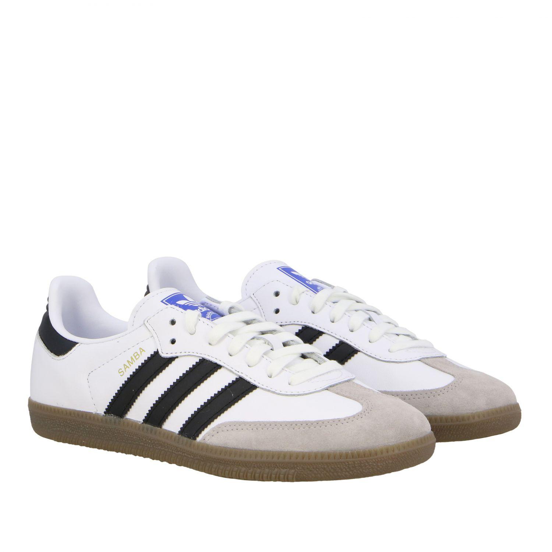 Sneakers Adidas Originals: Adidas Originals Samba sneakers in leather with logo white 2