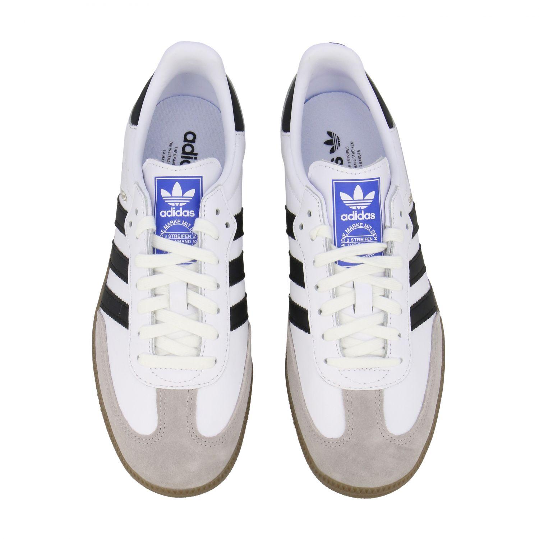 Sneakers Adidas Originals: Adidas Originals Samba sneakers in leather with logo white 3