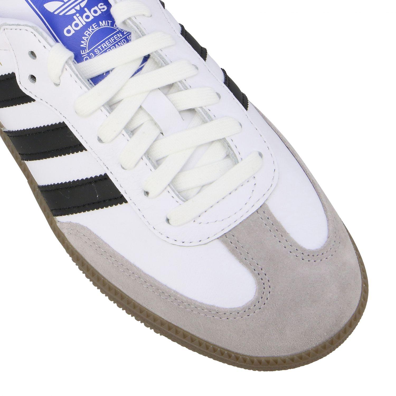 Sneakers Adidas Originals: Adidas Originals Samba sneakers in leather with logo white 4