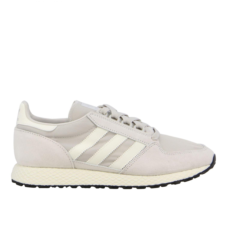 Forest Grove Adidas Originals Sneakers aus Mesh und Nabuk perle 1