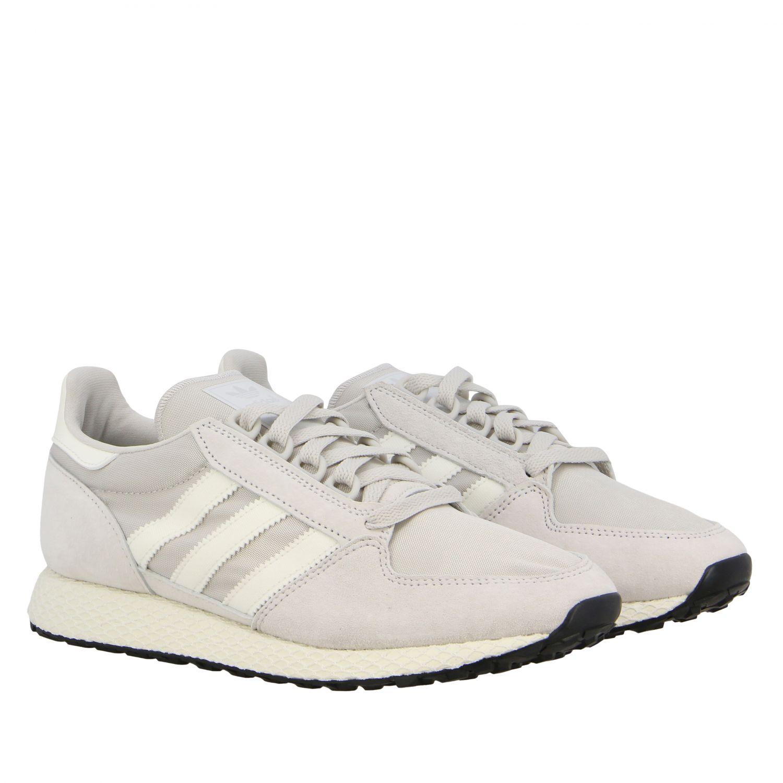 Forest Grove Adidas Originals Sneakers aus Mesh und Nabuk perle 2