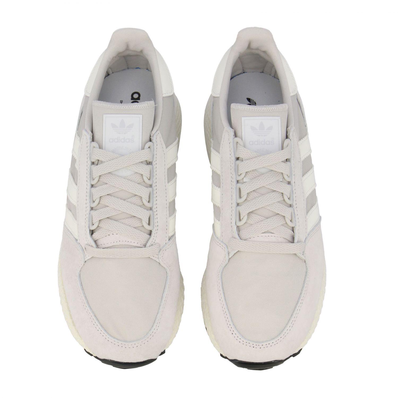 Forest Grove Adidas Originals Sneakers aus Mesh und Nabuk perle 3