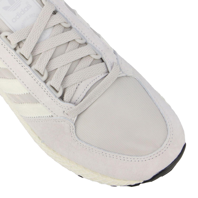 Forest Grove Adidas Originals Sneakers aus Mesh und Nabuk perle 4