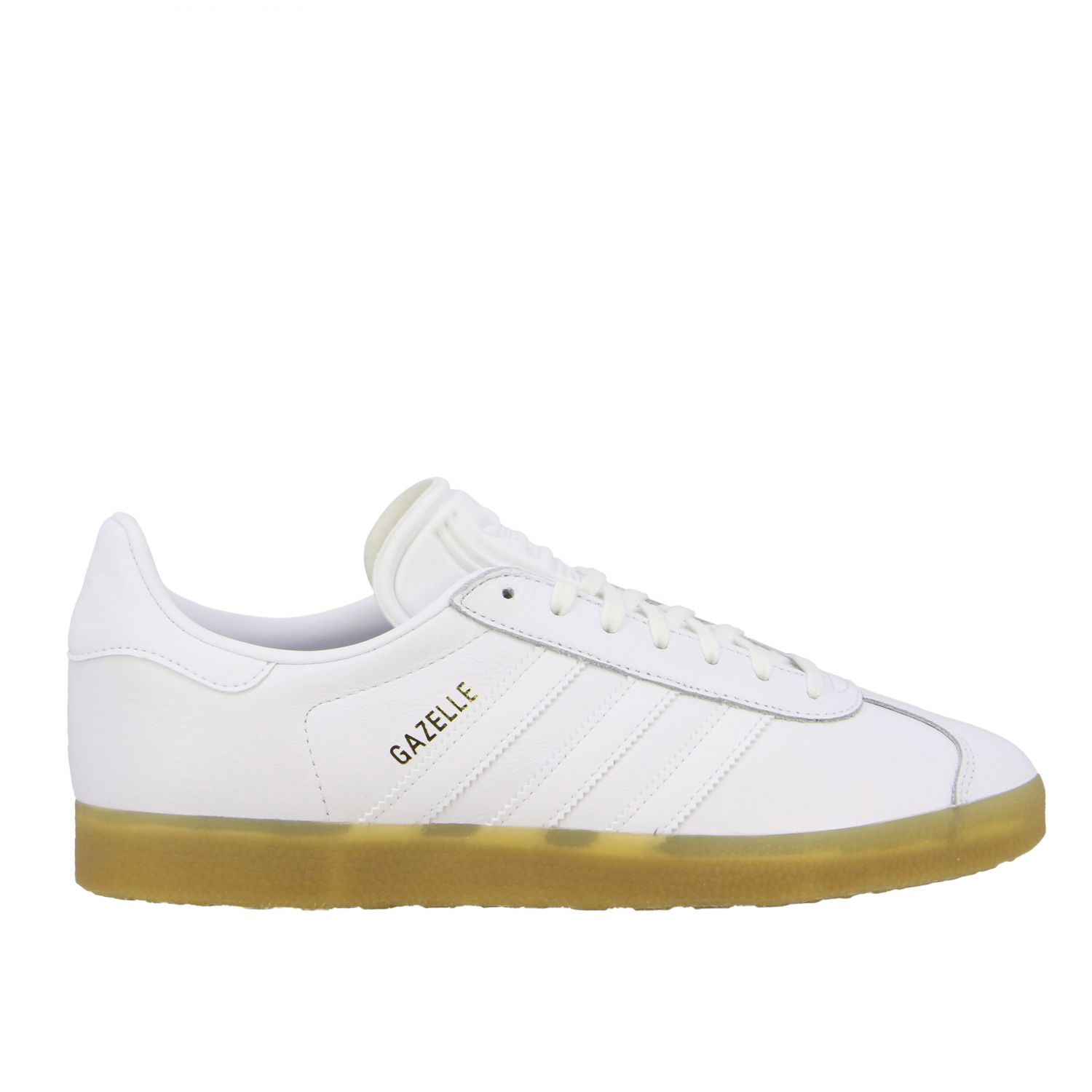 Sneakers Adidas Originals: Adidas Originals Gazelle leather sneakers with logo white 1