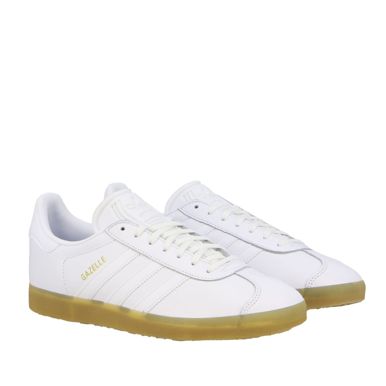 Sneakers Adidas Originals: Adidas Originals Gazelle leather sneakers with logo white 2