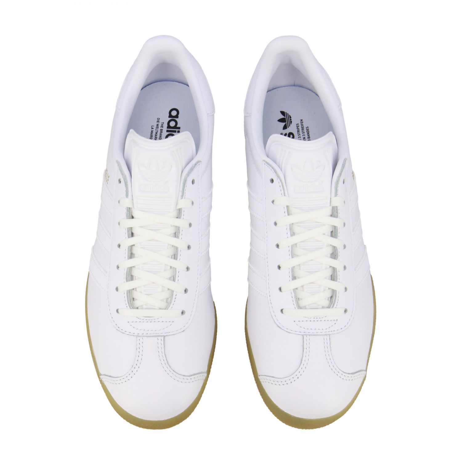 Sneakers Adidas Originals: Adidas Originals Gazelle leather sneakers with logo white 3